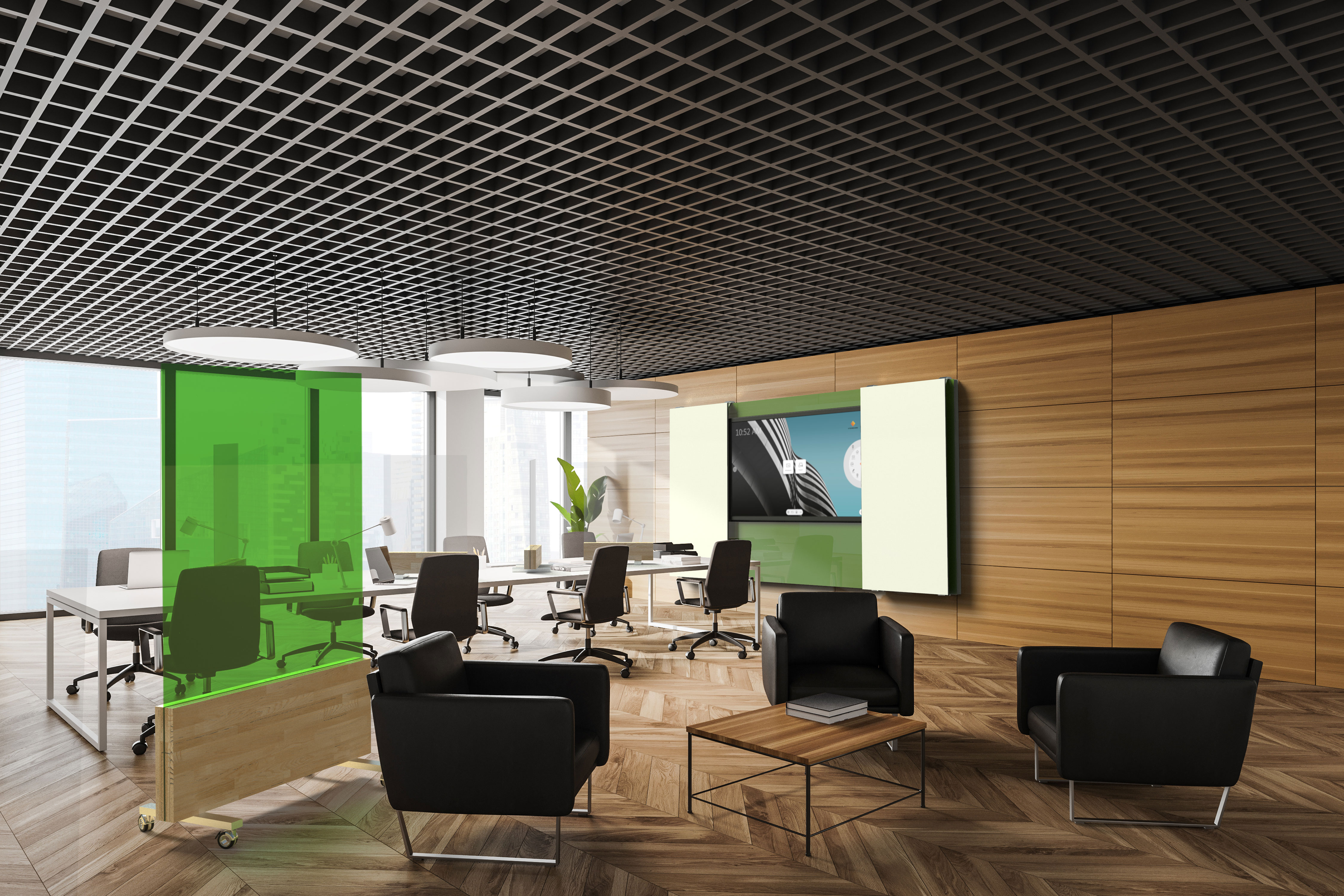Glassboard Office Green